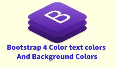 Bootstrap 4 Color classes :