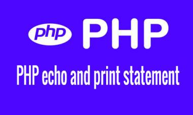 PHP echo and print statement