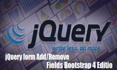 jQuery form Add/Remove Fields Bootstrap 4 Edition