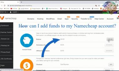 How can I add funds to my Namecheap account?