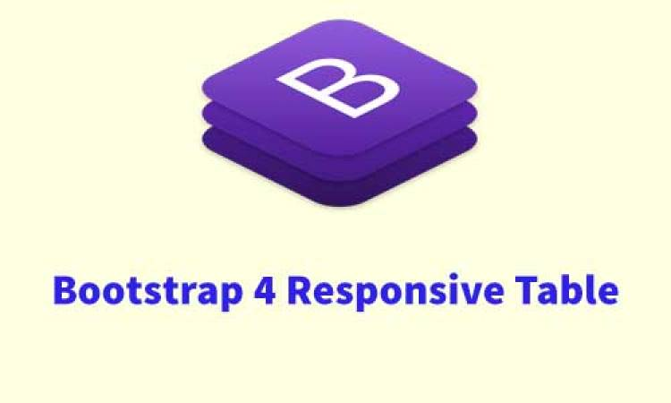 Bootstrap 4 Basic Table: