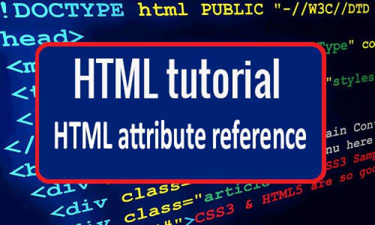 HTML attribute reference