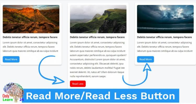 Read More Read Less Button from javascript  without loading